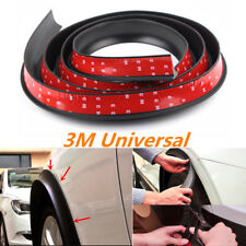 1x 3m Wide Car Wheel Fender Trim Moulding Flares Protector Strip Universal Black