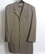 Bonelli Mens Olive Green 6 Button Zoot Suit Jacket Size 42L