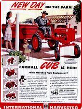 """Farmall Cub 9"""" x 12"""" Sign"""