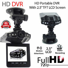 "6 LED 2.5"" Full HD720P Car DVR Vehicle Camera Video Recorder Dash Cam 270°NEW D"