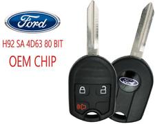 New 3 Button Remote Key Cwtwb1u793 80 Bit Sa Oem Ford Chip 4d63 A Usa Seller Fits Ford