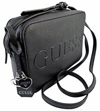 Guess Peak Black Crossbody Bag Saffiano PVC Handbag Purse Brand New With Tags