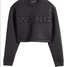 🔥 ALEXANDER WANG x H&M 🔥 Women Scuba Cropped Black Sweatshirt Top, SIZE S