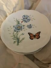 LENOX BUTTERFLY MEADOW Set Of 4 PARTY PLATES NEW