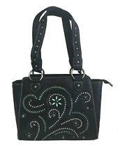 Montana West Ladies Concealed Gun Carry Purse Handbag Swirl Cutouts Design Black
