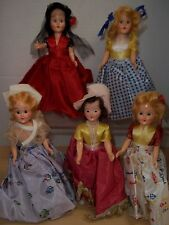 Lot of 5 Vintage International Ethnic Costume Dolls