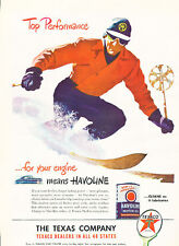 1947 Texaco Havoline Motor Oil  - Original Advertisement Car Print Ad J522