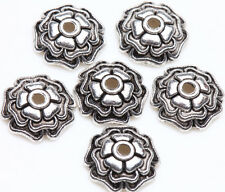 25 Tibetan Silver Flower Loose Spacer Bead Caps Charm Jewelry Finding 10x3mm DIY