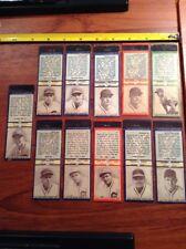1936 Diamond Matchbook Baseball 11 lot Chicago Cubs St Louis Browns Bill Lee