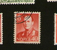 POSTAGE STAMP : NORWAY - NORGE - 40 - red