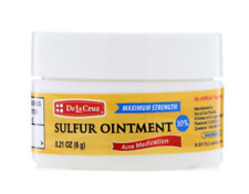 NEW DE LA CRUZ SULFUR OINTMENT ACNE MEDICATION DAILY SKIN CARE TREATMENT CLEANSE
