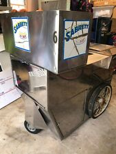 Vintage Sabrett Hot Dog Hotdog Cart Food Vending Stand Kiosk Sign New York