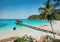 A1| Cool Tropical Beach Resort Poster Size 60 x 90cm Nature Poster Gift #16670