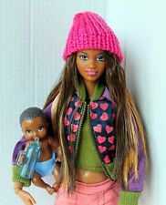 Barbie Doll African American Grace Hybrid Articulated Redressed With Baby Lovely