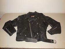 Vintage Brooks Leather Motorcycle Cafe Racer Jacket Coat Black Mens Medium M 46