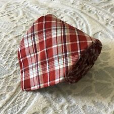 "BROOKS BROTHERS Red Plaid 100% Cotton Neck Tie - 60.25"" X 3.5"""