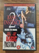 BASIC INSTINCT 1 & 2 DVD Film Movie Cert 18