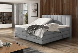 Box Spring Bed Electric Adjustable Motor Hotel Bed Double Bed Grey Filippo