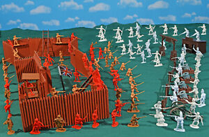 French and Indian War Playset #1 'Defend the Fort' - 54mm Plastic Toy Soldiers