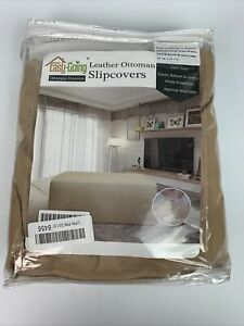 Easy-Going Leather Ottoman Slipcovers OTTOMAN OVERSIZE BEIGE Easy Care Washable