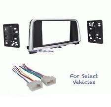 Double Din Car Stereo Radio Dash Kit Combo for 2016 Kia Optima -No Factory Nav
