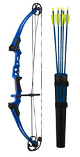 New Mathews Genesis Mini Blue One Cam Youth Bow RH Archery Kit Model# 11425
