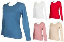 T-shirt femmecoton bio col rond manches longues RAGNO article D136T9 PERFETTA BI
