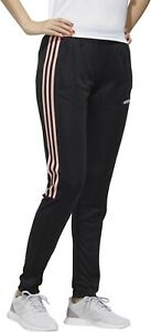 Adidas Sereno 19 Women's  Fitted Athletic Training Pants Black Pink Jogger
