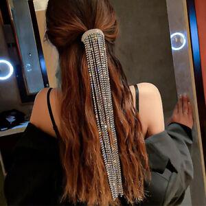 Bright Glittering Diamond Fringe Headpiece Tassel Hairpin Hair Accessories