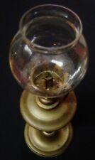 ANCIENNE LAMPE PIGEON EN BRONZE A POSER AVEC VERRERIE XIXème X67