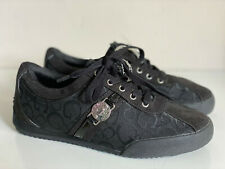 NEW! GUESS JOLENEE SIGNATURE LOGO BLACK CANVAS SNEAKERS SHOES 6.5 37 $69 SALE