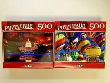 """Puzzlebug 500 Piece Puzzles 18.25"""" X 11"""" New & Sealed Lot of 2"""