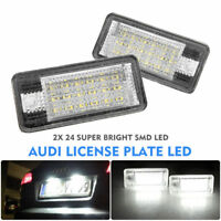2X Audi 18 LED License Number Plate Light Rear Canbus Fit Audi A3 S3 A4 A6 S6 A8