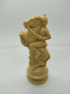 One Vintage Anri Replacement Chess Piece White Knight ES Lowe Renaissance