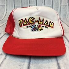 80s VTG nos PAC-MAN Video Game ARCADE Patch YOUNGAN Trucker Hat Snapback Mesh OG
