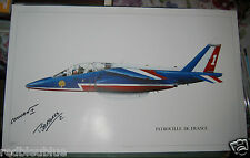 """Patrouille de France """"ALPHA JET Profil"""" Litho 1988 Signée CONNAN + Livre PERROT"""