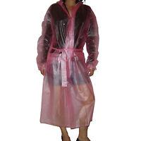 Quality Semi- Transparent Plastic PVC Vinyl Raincoat MAC Regenmantel