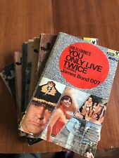 Softcover Book Lot of 8 James Bond Action Spy 007 Adventure Movie Books