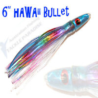 "Hawaii Bullets Game Fishing Trolling Lures 5.5"" Skirted Tuna Marlin Lure GT"