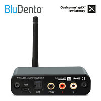 BluDento True HiFi Bluetooth DAC Burr Brown Audio Receiver aptX Low Latency