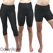 Swim Shorts/Pants Boyleg size 10-18 Black Quad, 3/4 & Knee Length Leggins Ladies