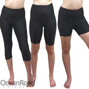 Swim Shorts/Pants Boyleg size 10-18 Black Quad, 3/4 & Knee Length Leggings 14