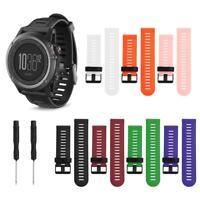 Silicone Wrist Strap Replacement Watch Band for Garmin Fenix3 / HR / 5X+Screwdri