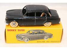 Dinky Toys 24 B Peugeot 403 Berline in black near mint in box all original