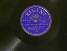 "JOHN HARDEE Baby Watch / Bad Man's Bounce Billy Kyle Cozy Cole Regent 10"" 78 rpm"