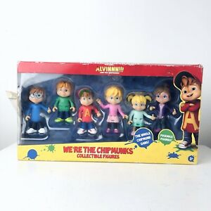 """Alvin and the Chipmunks """"We're The Chipmunks"""" Poseable Collectible Figures"""