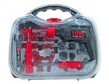 Werkzeugkoffer für Kinder Bohrmaschine Werkzeug Spielzeug Zubehör SET Hammer