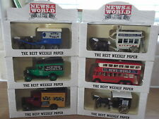 Lledo Complete set of 6 Promotional Models, News of the World 150th Anniversary