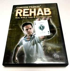 REHAB by Cameron Francis - Torn & Restored Card Magic Trick DVD