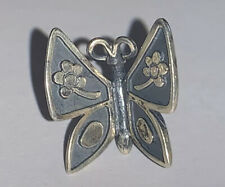 RETIRED JAMES AVERY Sterling Silver Mariposa BUTTERFLY Lapel Pin Brooch Tie Tack